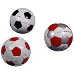 Dwuwarstwowa piłka nożna szyta maszynowo. Przeznaczona do gry rekreacyjnej, na każdy rodzaj nawierzchni.