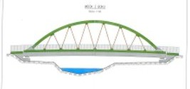 Raport z placu budowy mostu – powstaje most tymczasowy.