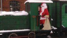 Św. Mikołaj i Kiermasz Bożonarodzeniowy na rudzkiej kolejce wąskotorowej. Zapraszamy.