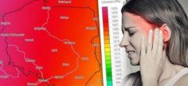 UWAGA: Tak wysoki wzrost ciśnienia atmosferycznego może powalić nas z nóg!!! Najgorsza będzie dzisiejsza noc i poniedziałkowy poranek – 1050 hPa!!!