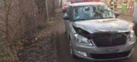 Wypadek drogowy z udziałem 3 samochodów osobowych na Kolonii Renerowskiej.
