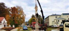 Kolumna z figurą Najświętszej Marii Panny powróciła do Rud.
